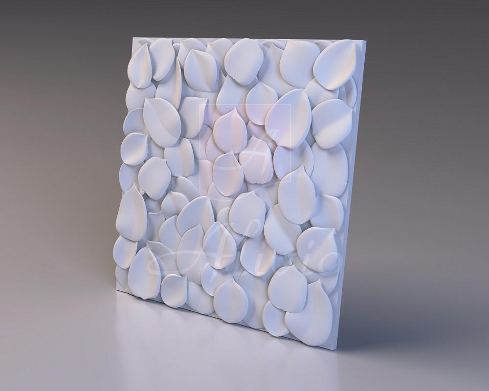 Панели из гипса Leaves - 60x60 см