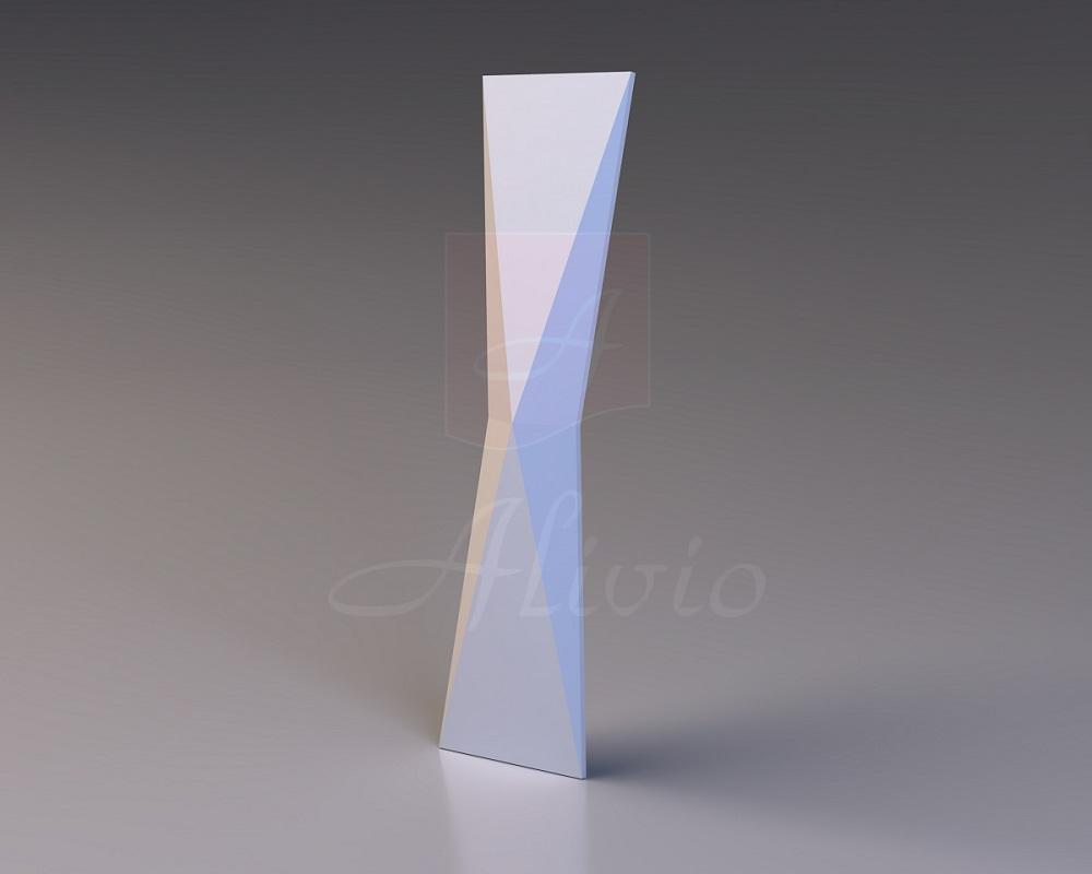 Панели из гипса Origami - 60x15 см