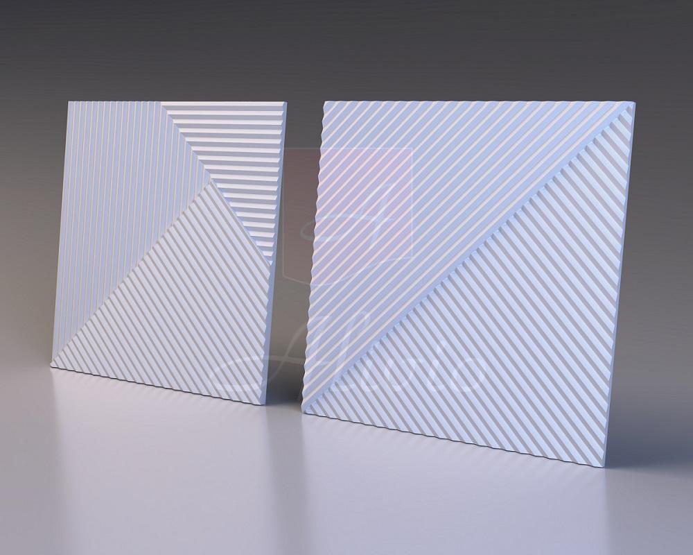 Гипсовые панели Stripes - 60х60см