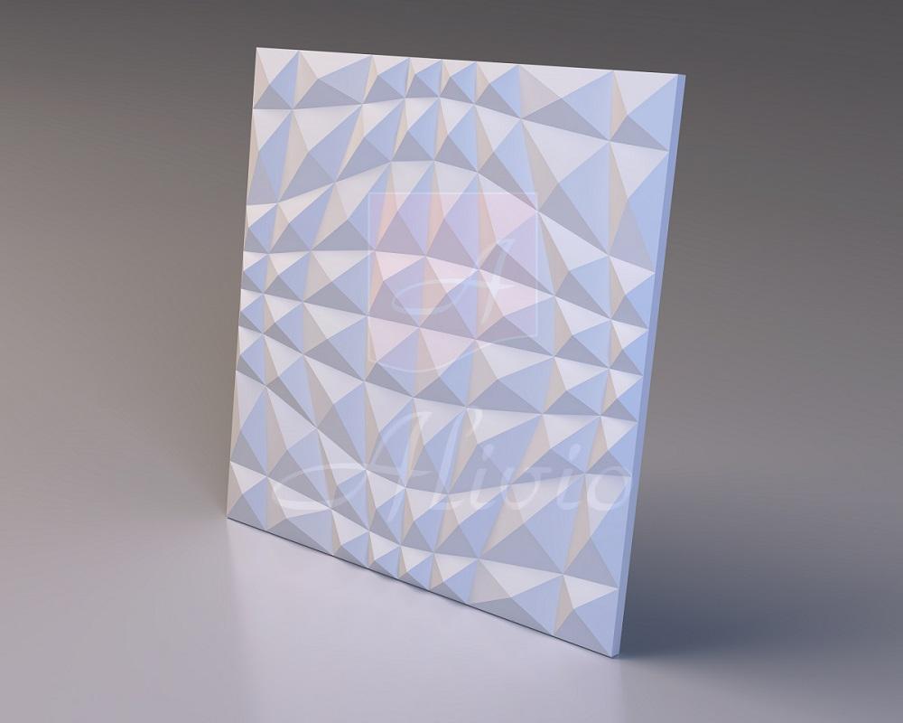 Гипсовые 3Д панели на стену Crystal - 60x60 см